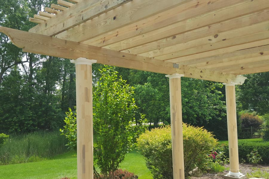 Unstained Wood Pergola Inverness