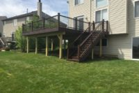 Vintage Lantern Trex® Deck with Black Aluminum Balusters McHenry County