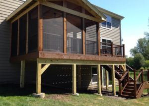 Vintage Trex® Deck with Screen Room Lake County