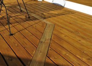Wood Deck Inlay Lake County