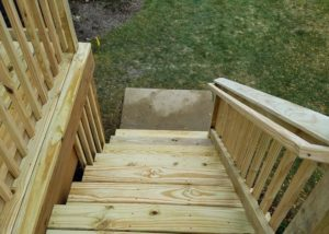Wood Deck Stairs Wauconda