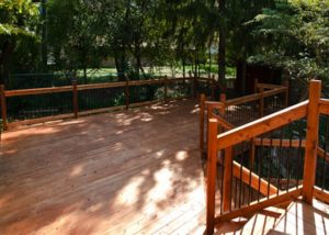 Wood Deck with Aluminum Balusters Janesville
