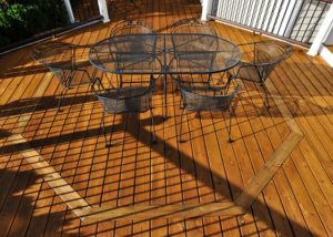 Wood Deck with Octagon Inlay Lake County