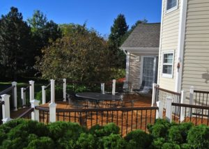 Wood Decking with Trex® Railings Gurnee