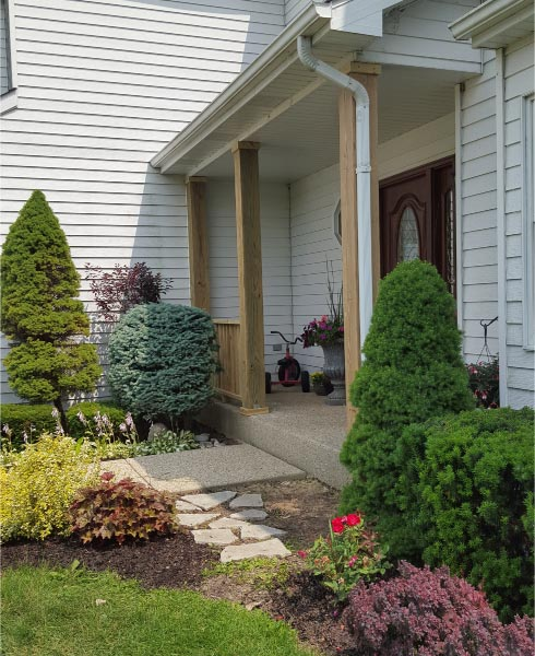 Wood Front Porch Mchenry Rock Solid Builders Inc