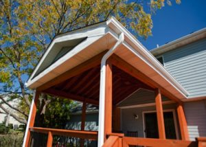 Wood Pavillion over Wood Deck McHenry County