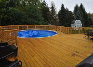 Wood Pool Deck Algonquin 2