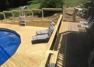 Wood Pool Deck Algonquin