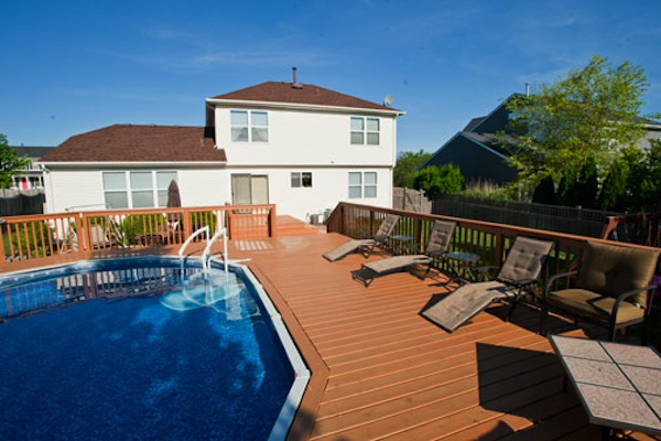 Wood Pool Deck McHenry County 2