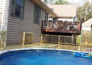 Wood Pool Deck McHenry County