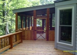 Wood Screen Porch Lake County