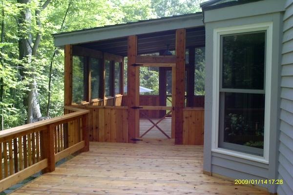 Wood Screen Porch Lake County